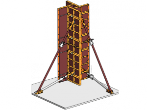 Modular column formwork adjustable