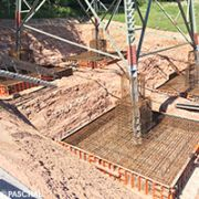 Pylon foundations formed with formwork from PASCHAL