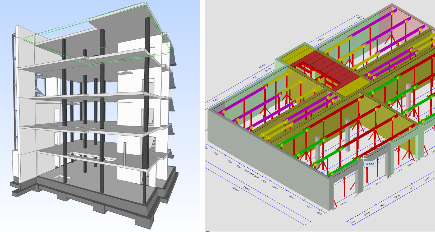 Formwork planning with  PASCHAL-Plan light 11.0 software