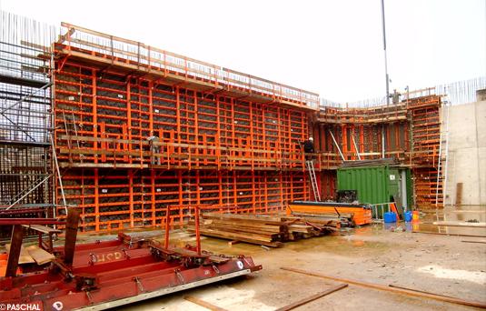 Bauunternehmen Luxemburg kläranlage mit paschal schalungssystemen geschalt paschal