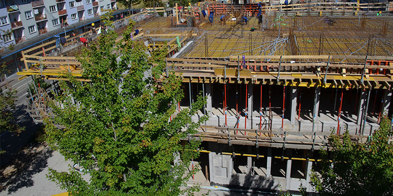 Formwork on the industrial and technical school in Offenburg