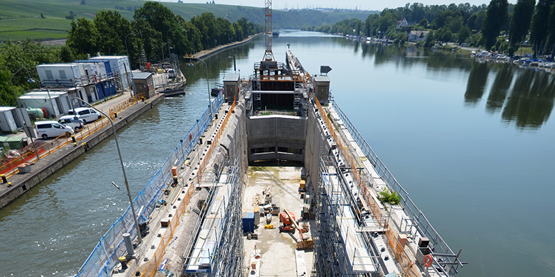 Renovation of a lock chamber with PASCHAL formwork