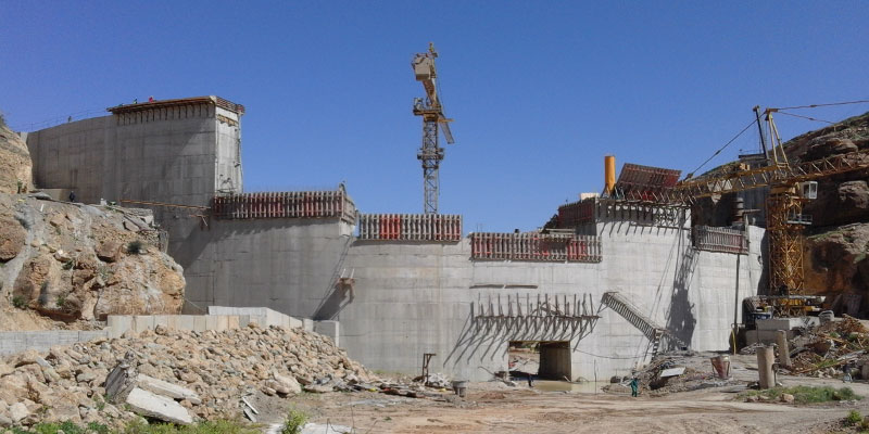 38-metre-high dam is being built in North Africa with a combination of 3 PASCAL systems