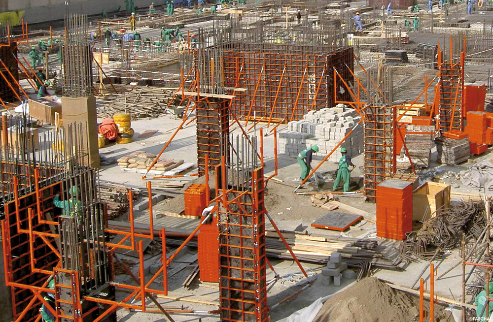 Column Formwork made of Modular formwork