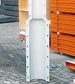 round column with conical section