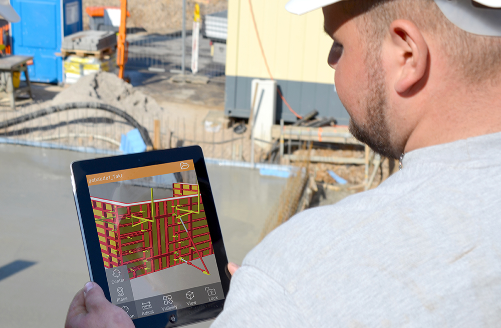 PASCHAL AR app for mobile use at construction site