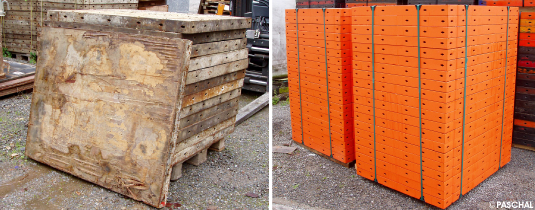 formwork before and after general overhaul